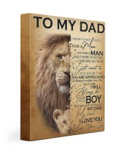 To My Dad Lion - Son - Canvas For Table 11x14 Gallery Wrapped Canvas Prints front