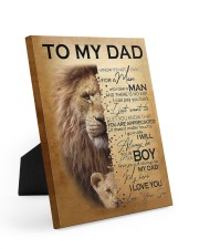 To My Dad Lion - Son - Canvas For Table 8x10 Easel-Back Gallery Wrapped Canvas thumbnail