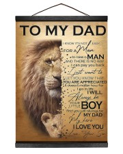 To My Dad Lion - Son - Canvas For Table 12x16 Black Hanging Canvas thumbnail