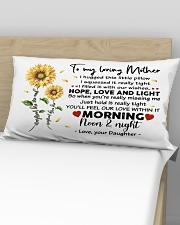 Pillow Daughter To Mother Sunflower Rectangular Pillowcase aos-pillow-rectangular-front-lifestyle-02