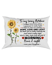 Pillow Daughter To Mother Sunflower Rectangular Pillowcase front