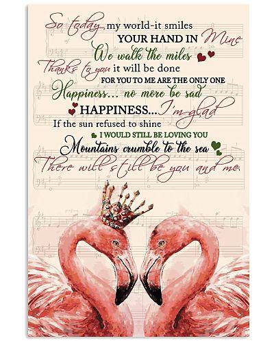 Poster Flamingo Couple