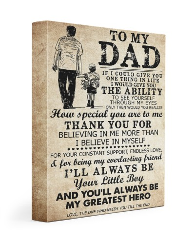 To My Dad My Great Hero - Canvas