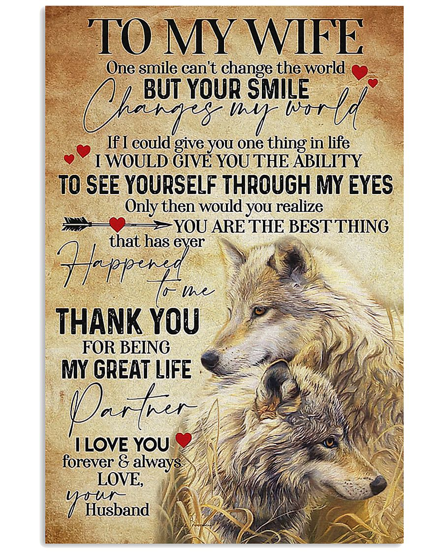 To My Wife Wolf - Poster 11x17 Poster