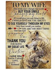 To My Wife Wolf - Poster 11x17 Poster front