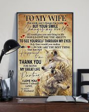 To My Wife Wolf - Poster 11x17 Poster lifestyle-poster-2