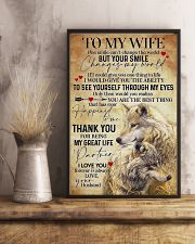 To My Wife Wolf - Poster 11x17 Poster lifestyle-poster-3