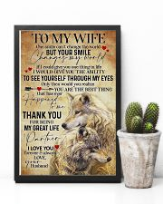 To My Wife Wolf - Poster 11x17 Poster lifestyle-poster-8