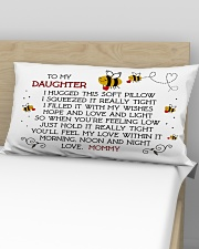 Pillow To My Daughter - Mommy Rectangular Pillowcase aos-pillow-rectangular-front-lifestyle-02