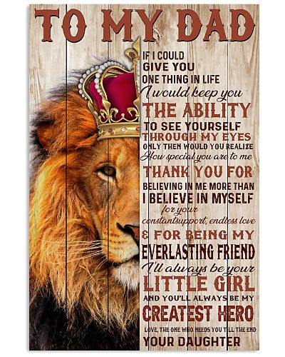 To My Dad Lion King - Family - Poster - Daughter