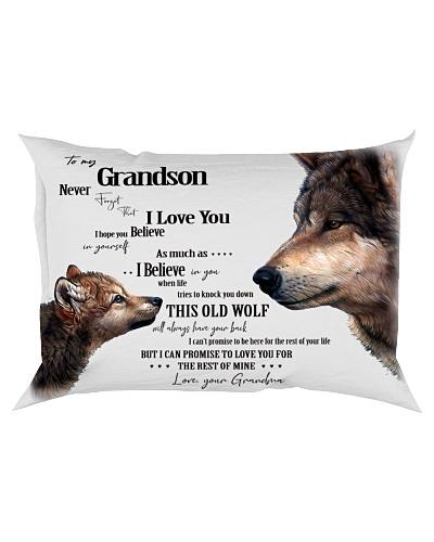 Pillow - To My Grandson Wolf - Grandma