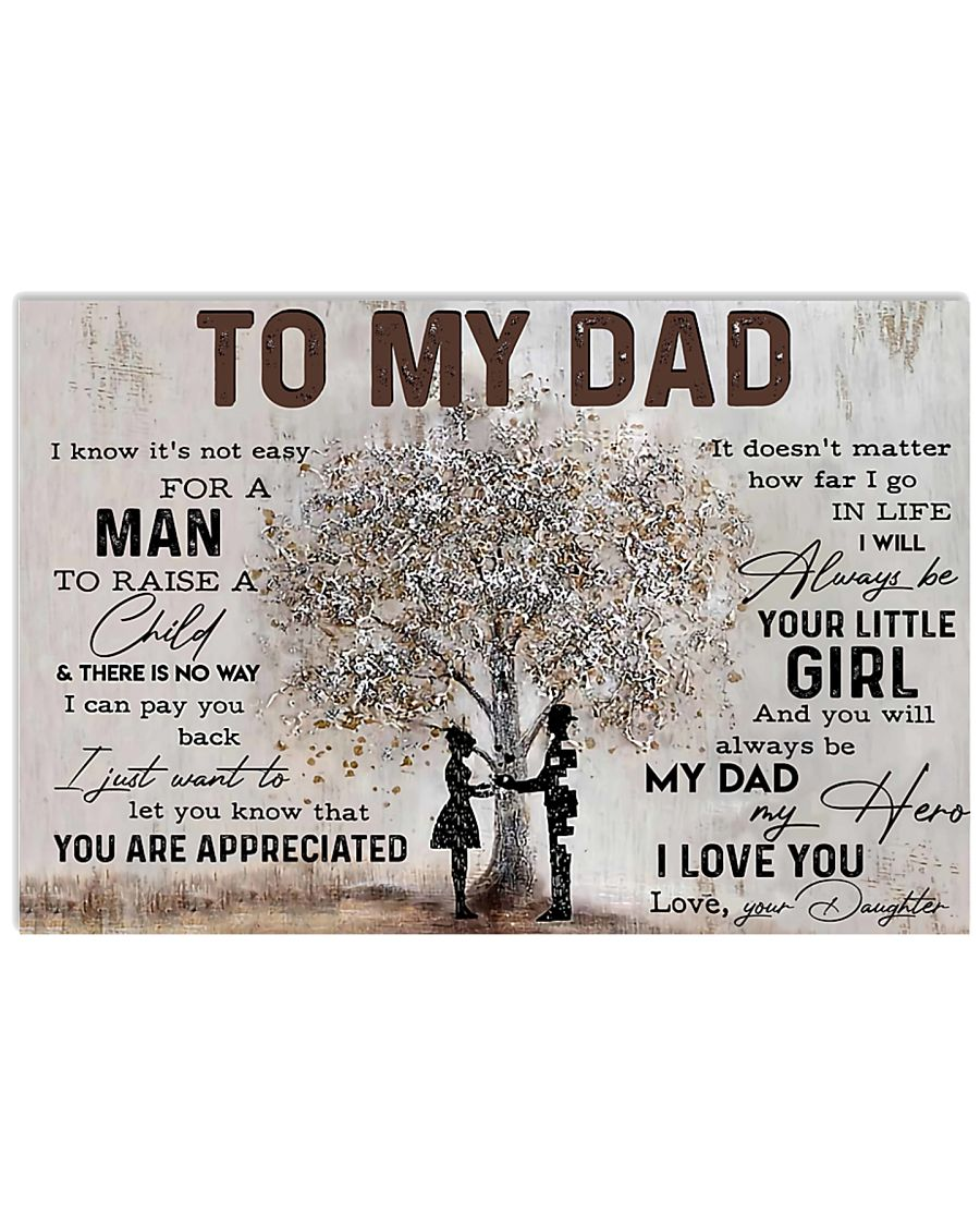 Poster - To My Dad - Daughter 17x11 Poster