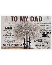 Poster - To My Dad - Daughter 17x11 Poster front