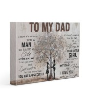 Poster - To My Dad - Daughter 14x11 Gallery Wrapped Canvas Prints thumbnail