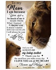 To My Mom Lion - Poster 11x17 Poster front