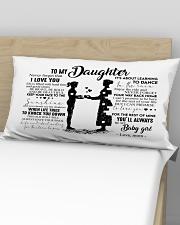 Pillow - To My Daughter - Mom Rectangular Pillowcase aos-pillow-rectangular-front-lifestyle-02