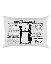 Pillow - To My Daughter - Mom Rectangular Pillowcase front