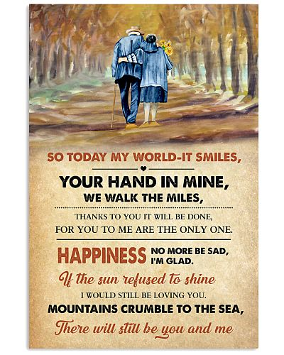 So Today My World It Smiles Poster - Wife Husband