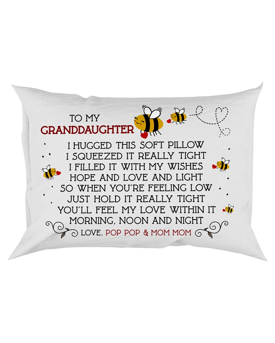 Pop Pop and Mom Mom - Granddaughter Rectangular Pillowcase
