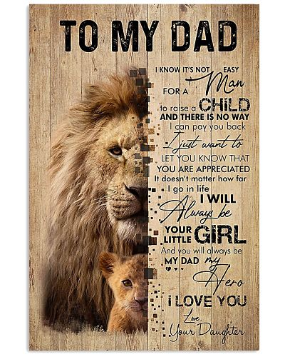 To My Dad Lion - Daughter Poster