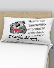 Pillow - I Love You The Most Koala Rectangular Pillowcase aos-pillow-rectangular-front-lifestyle-02