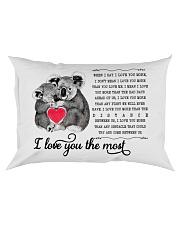 Pillow - I Love You The Most Koala Rectangular Pillowcase front