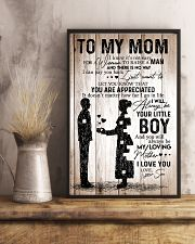 To My Mom - Boy - Poster 11x17 Poster lifestyle-poster-3