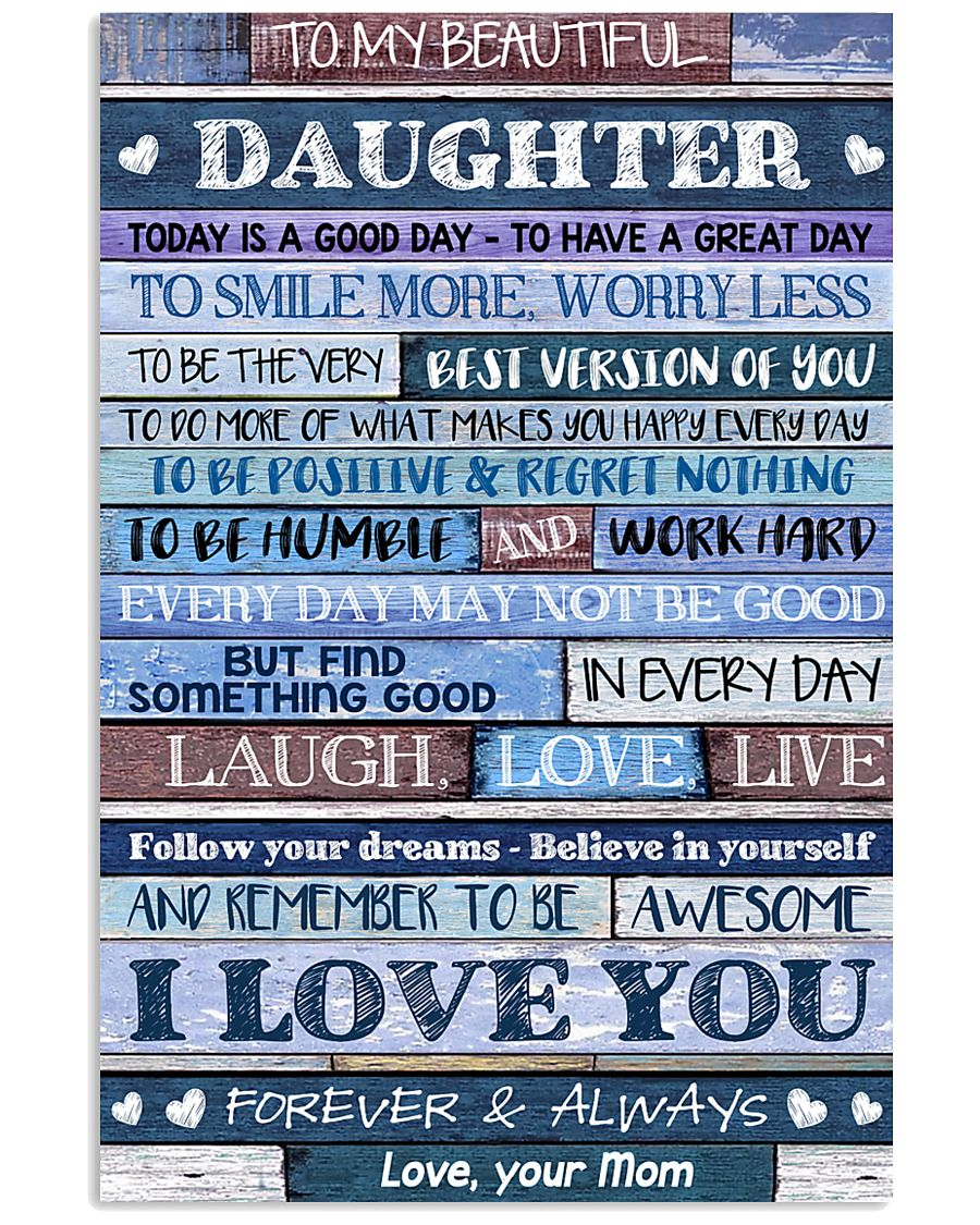 Poster To My Beautiful Daughter 11x17 Poster