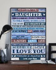 Poster To My Beautiful Daughter 11x17 Poster lifestyle-poster-2