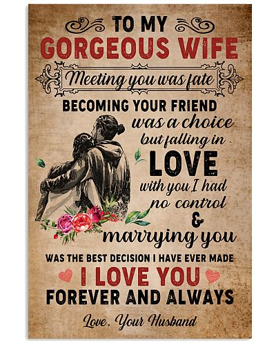 To My Gorgeous Wife Poster
