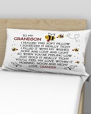 Pillow To My Grandson - Grandpa Rectangular Pillowcase aos-pillow-rectangular-front-lifestyle-02