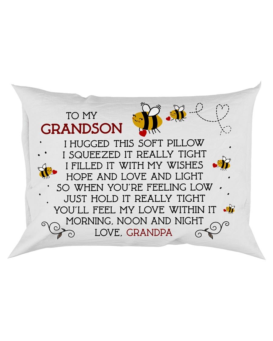 Pillow To My Grandson - Grandpa Rectangular Pillowcase