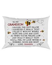 Pillow To My Grandson - Grandpa Rectangular Pillowcase front