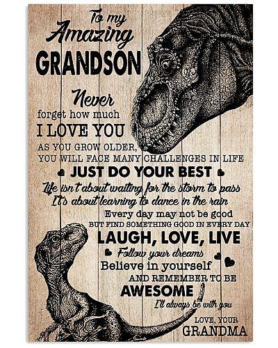 To MY Amazing Grandson - Grandma - Poster
