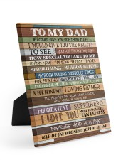 To My Dad - Poster  8x10 Easel-Back Gallery Wrapped Canvas thumbnail