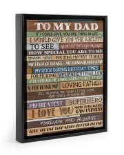 To My Dad - Poster  11x14 Black Floating Framed Canvas Prints thumbnail