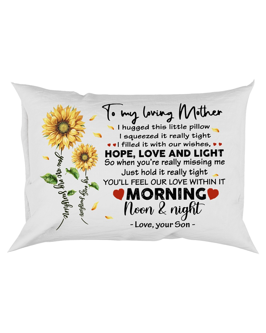 Pillow Son To Mother Sunflower Rectangular Pillowcase