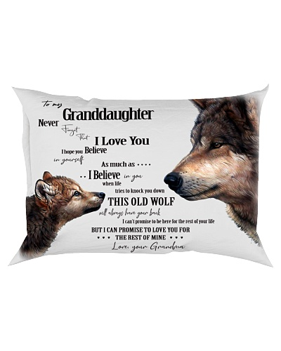 Pillow - To My Granddaughter Wolf - Grandma