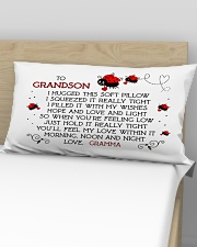 Grandson - Gramma - Bug Rectangular Pillowcase aos-pillow-rectangular-front-lifestyle-02