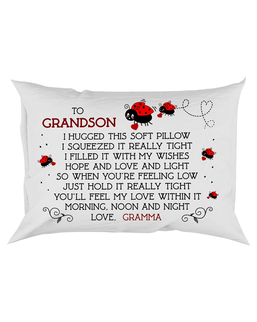 Grandson - Gramma - Bug Rectangular Pillowcase