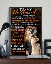 To My Husband Lion - Poster 11x17 Poster lifestyle-poster-2