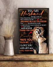 To My Husband Lion - Poster 11x17 Poster lifestyle-poster-3