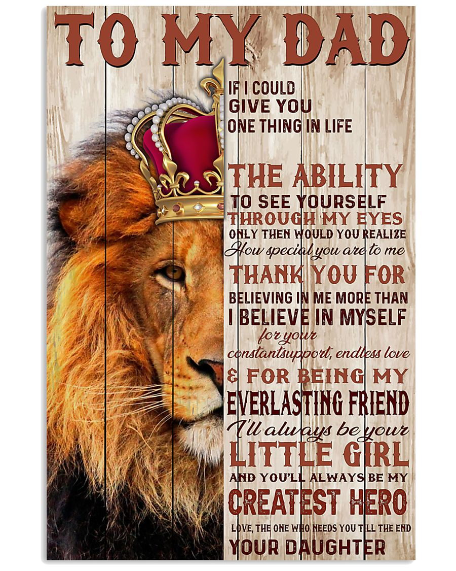 To My Dad Lion King - Family - Poster - may2120 11x17 Poster