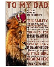 To My Dad Lion King - Family - Poster - may2120 11x17 Poster front
