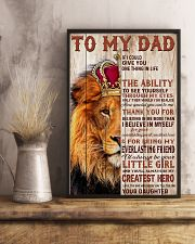 To My Dad Lion King - Family - Poster - may2120 11x17 Poster lifestyle-poster-3
