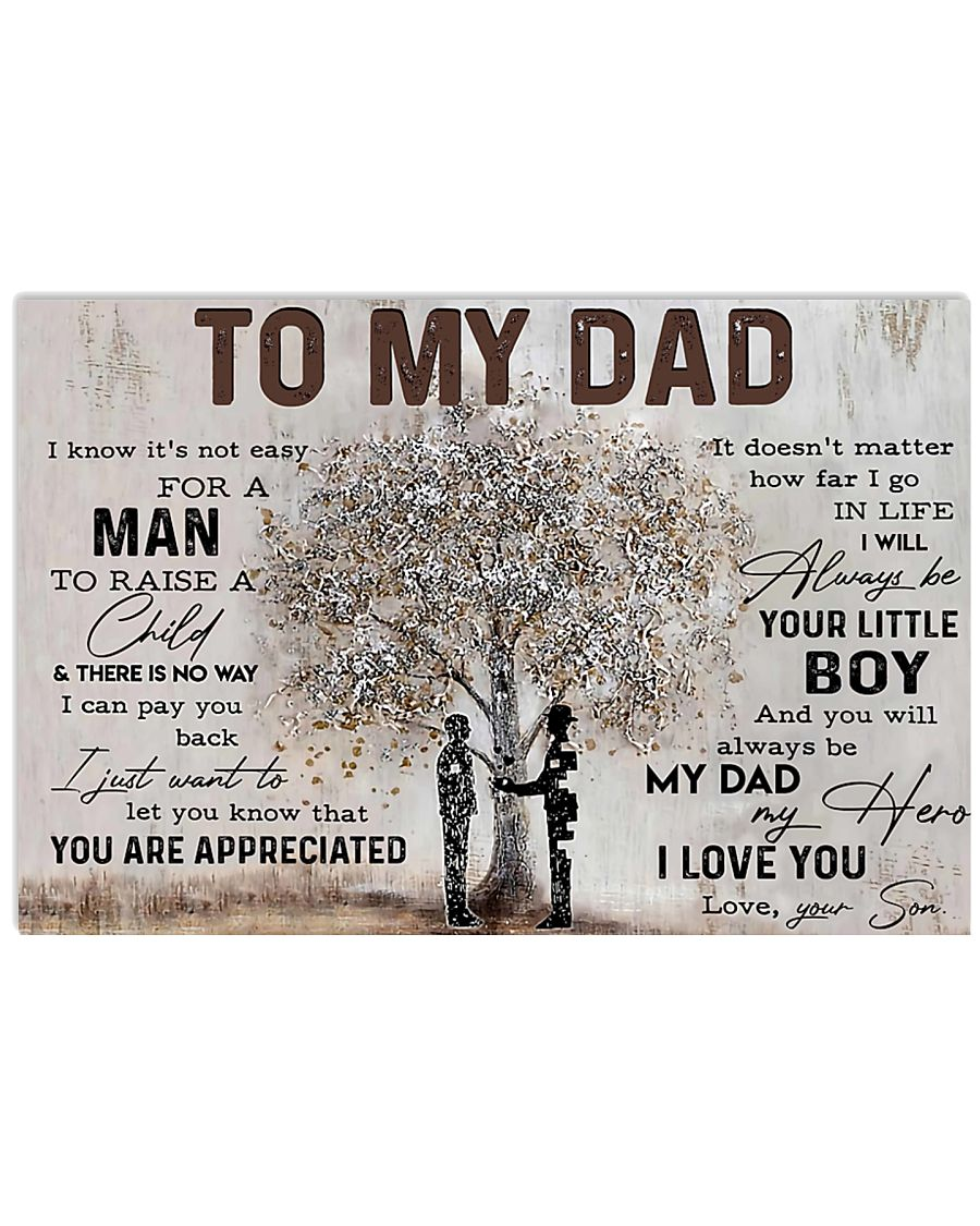 Poster - To My Dad - Son 2 17x11 Poster