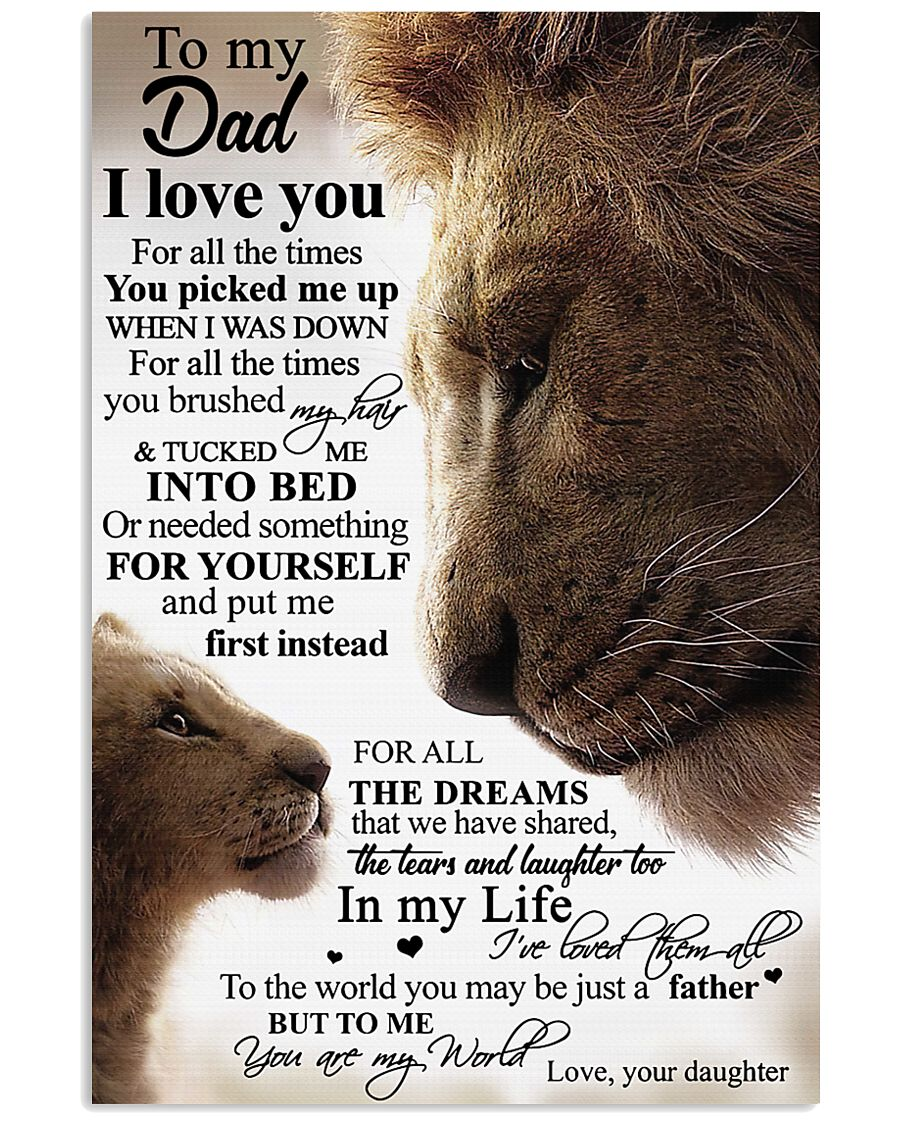 To My Dad Daughter Lion - Poster 11x17 Poster