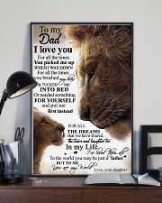 To My Dad Daughter Lion - Poster 11x17 Poster lifestyle-poster-2