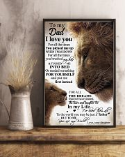 To My Dad Daughter Lion - Poster 11x17 Poster lifestyle-poster-3