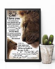 To My Dad Daughter Lion - Poster 11x17 Poster lifestyle-poster-8